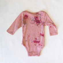 back view good moon long sleeve onesie in wisteria