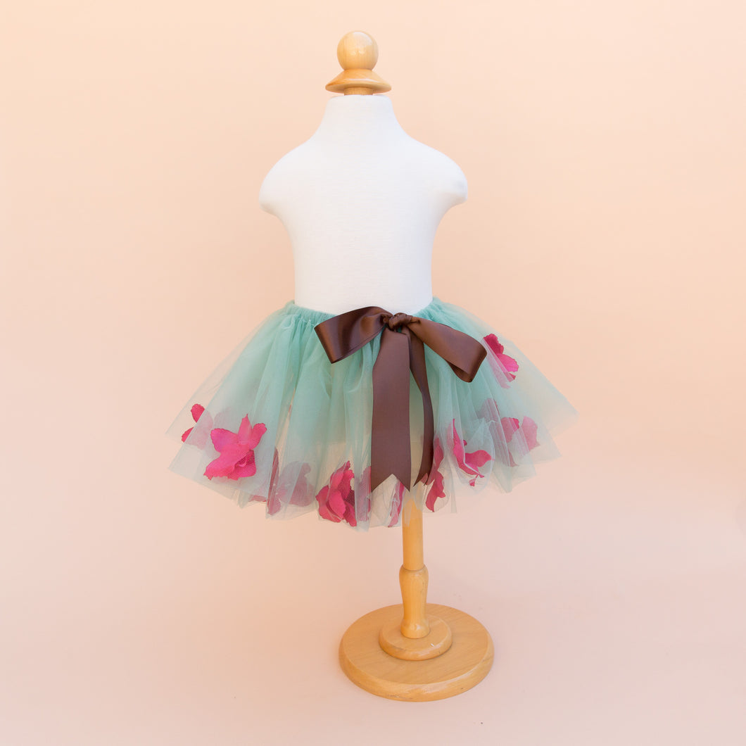 Green and Pink Floral Tutu