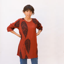 front view leaf print tunic by grizas