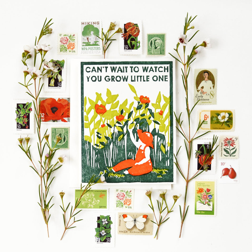 Watch You Grow New Baby Card