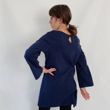 Load image into Gallery viewer, Pacific Cotton | Long Sleeve Bree Tunic in Navy