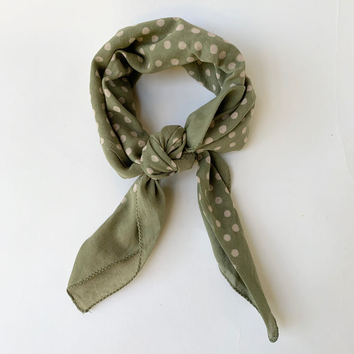 Bandana | Polka Dot in Soft Emerald