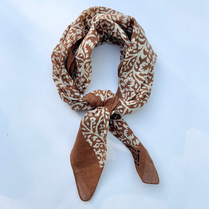 Bandana | Lace Flower in Burnt Sienna