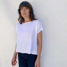 Load image into Gallery viewer, Cut Loose | Linen Tee in White