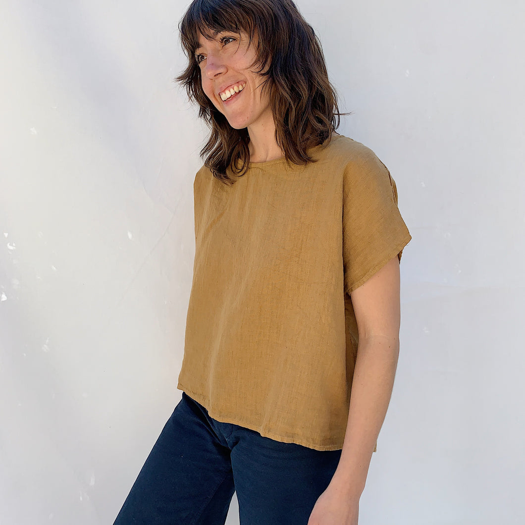 Cut Loose | Linen Tee in Cumin