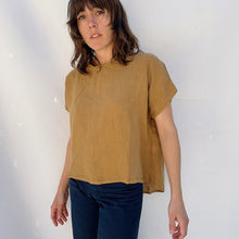 Load image into Gallery viewer, Cut Loose | Linen Tee in Cumin