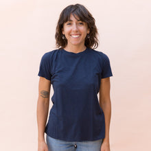 front view navy tee by it is well