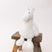 Load image into Gallery viewer, diagonal view bashful unicorn by jellycat