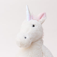 Load image into Gallery viewer, close up view bashful unicorn by jellycat