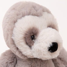 close up view of bailey sloth by jellycat