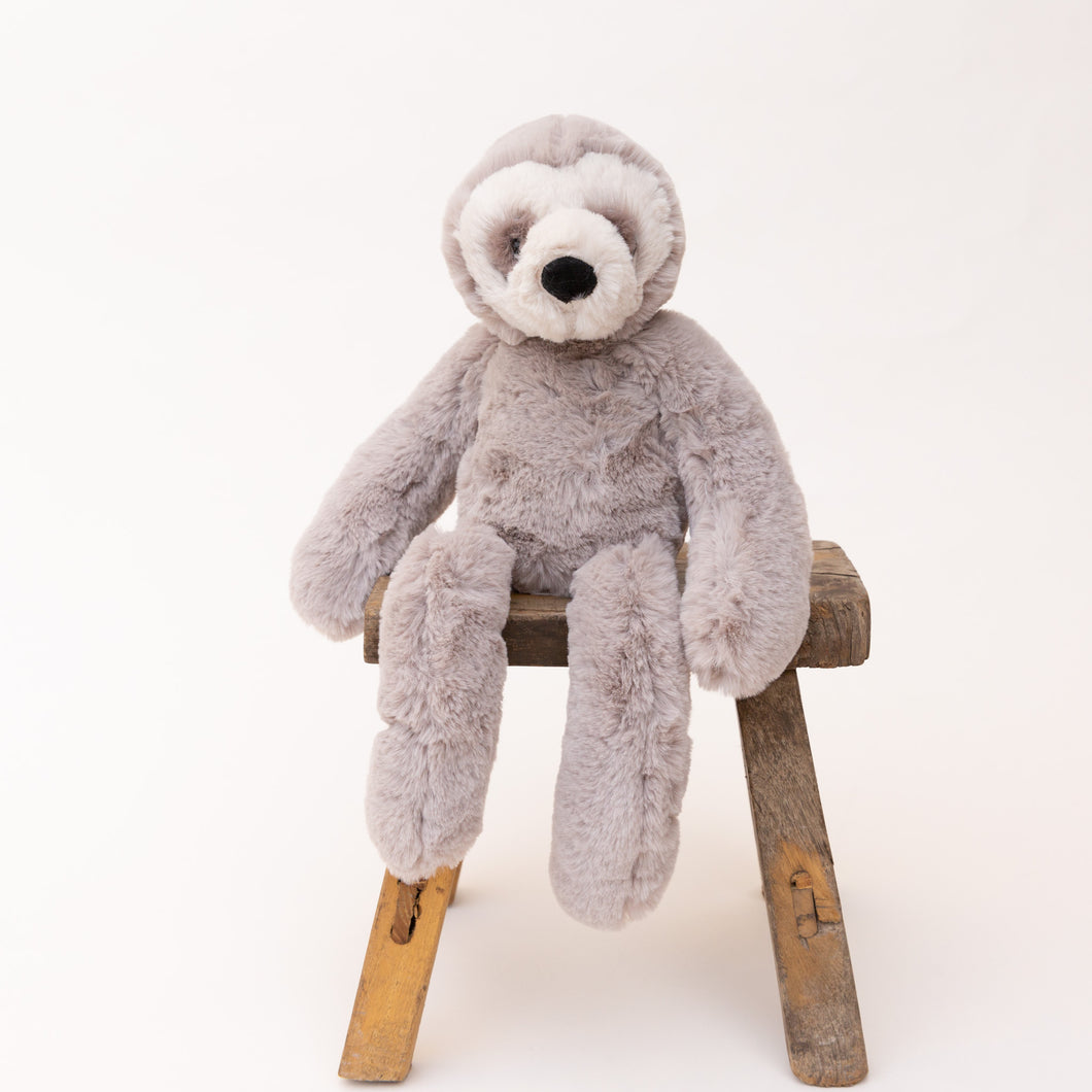 front view of bailey sloth by jellycat