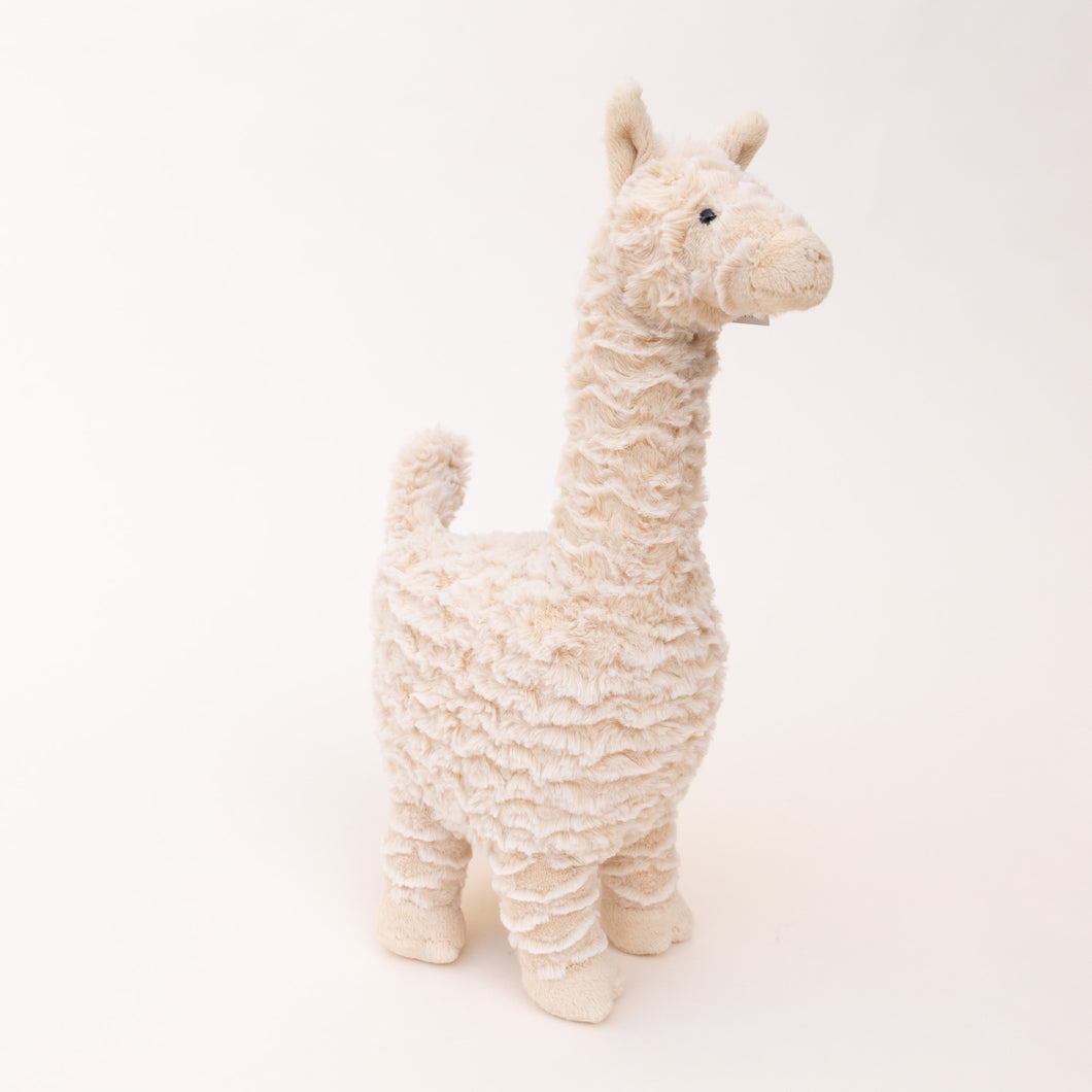 diagonal view of lars llama by jellycat
