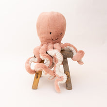 front view odell octopus by jellycat