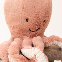 close up view odell octopus by jellycat
