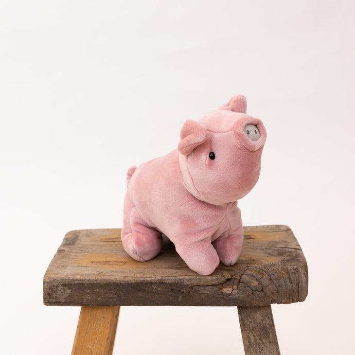 diagonal view of mellow mallow pig by jellycat