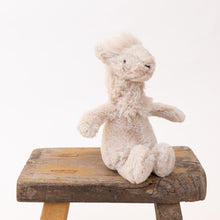 front view small bashful llama by jellycat