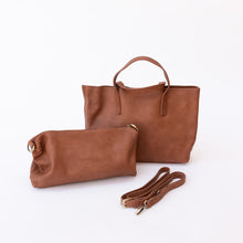 saddle joy susan mini tote with pouch and strap