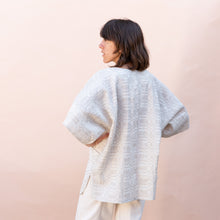 back view of pocket tunic in jute