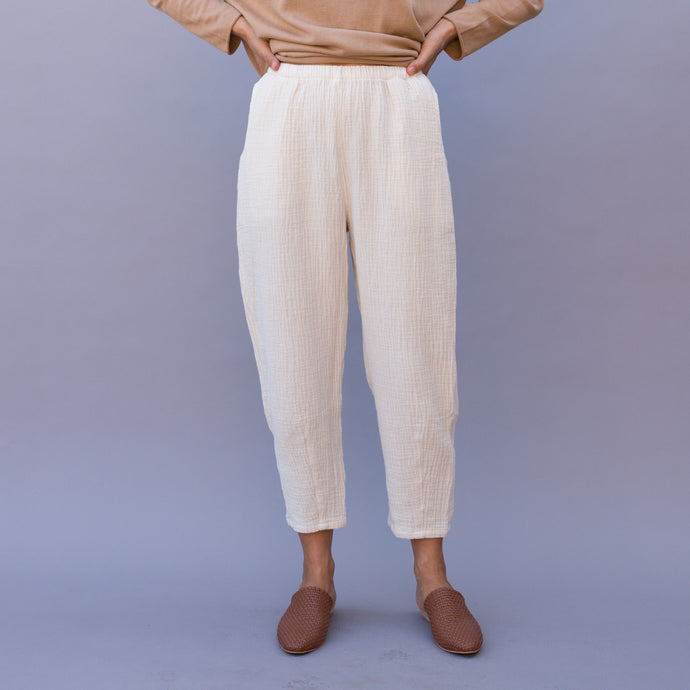 front view chiffon ankle pant