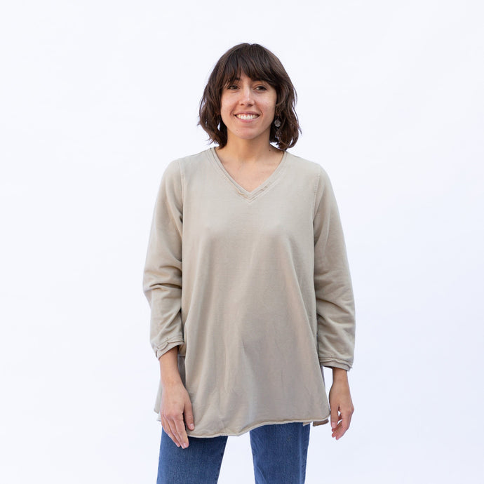 front view ecru pullover by kleen