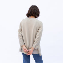 back view ecru pullover by kleen