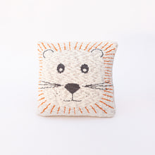 front view lion pillow