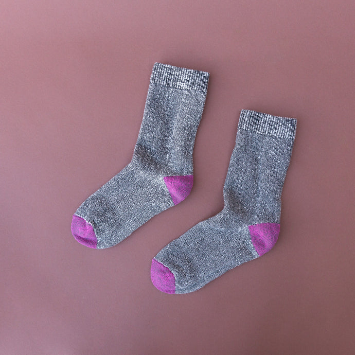 charcoal and fucshia sock from alabama