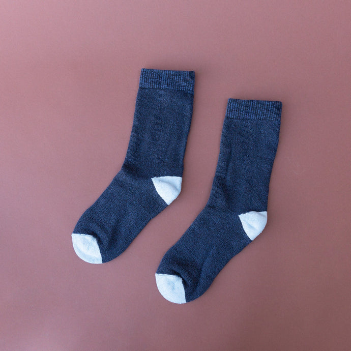 navy sock by little river sock mill