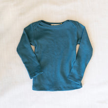 front view mabo long sleeve tee in azure