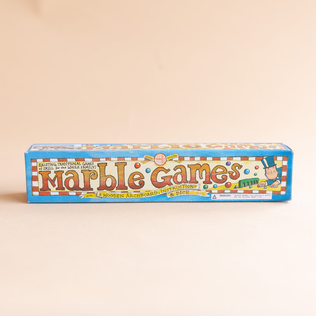 front view of marble games box