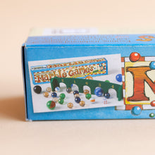 detail of marble games box