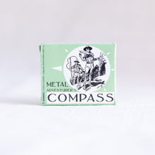 box of metal compass