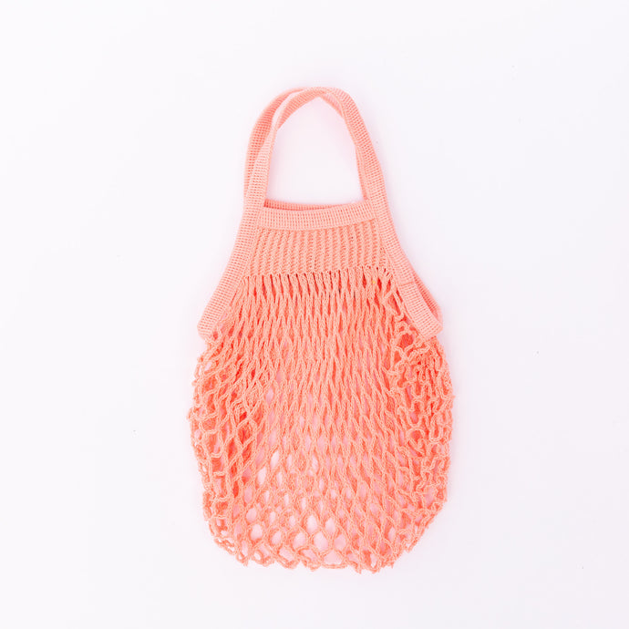 mini market bag in coral