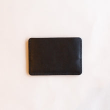 back of black card holder
