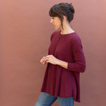 diagonal view maroon double cotton top by north star base