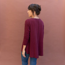 back view maroon double cotton top by north star base