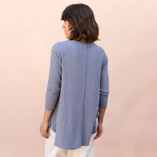 back view double cotton layer top in slate