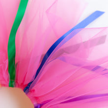 detail of fuchsia ribbon tutu