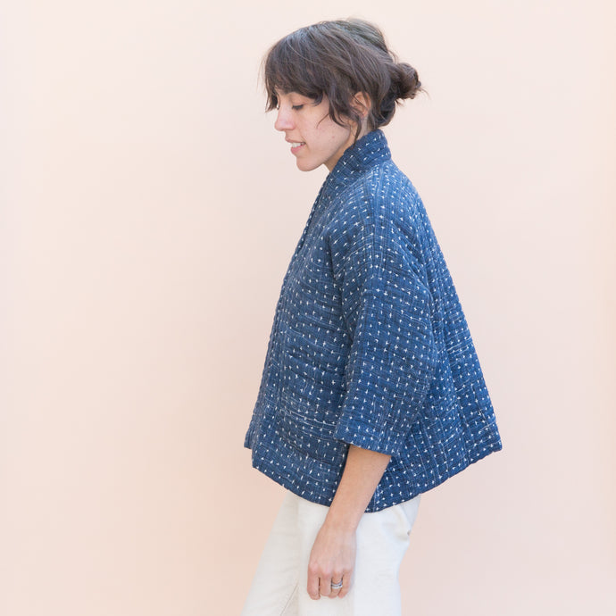 Pavo | Cropped Jacket in Navy
