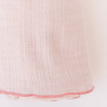 close up swaddle in blush by pehr