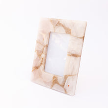 diagonal view of light pink quartz frame