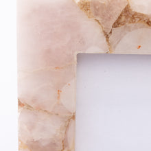 detail of light pink quartz frame