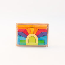 front view of rainbow blocks