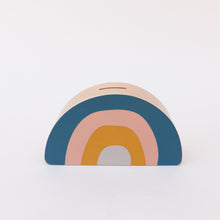 front view rainbow money box