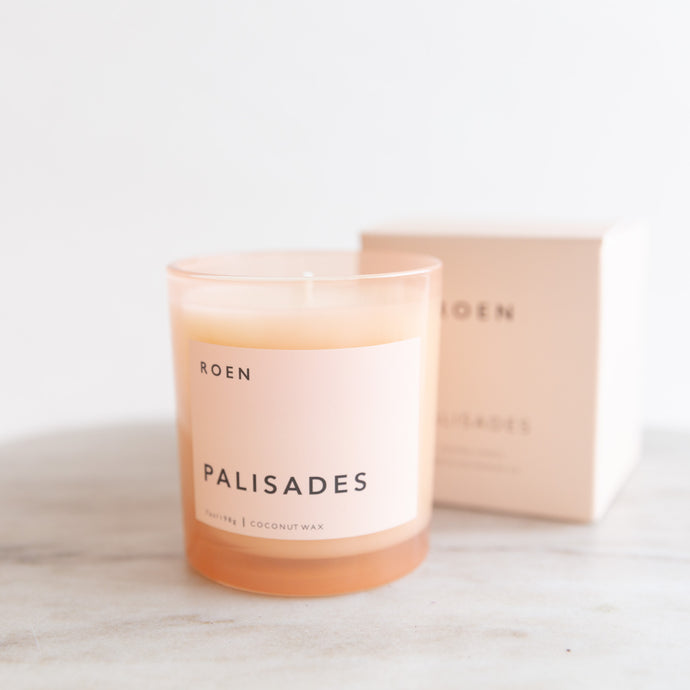front view of palisades candle