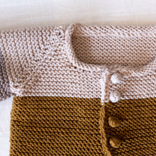 detail of rye cardigan