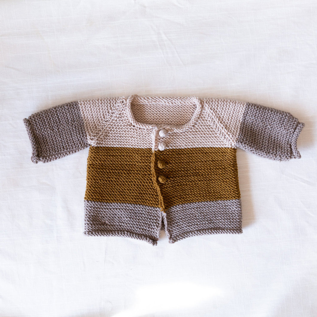 front view of rye cardigan