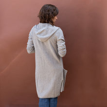 back view hooded cardigan by swtr