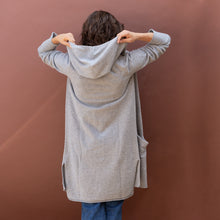 back hood view hooded cardigan by swtr