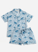Load image into Gallery viewer, Printfresh | Elephant Short Sleep Set in Sky Blue